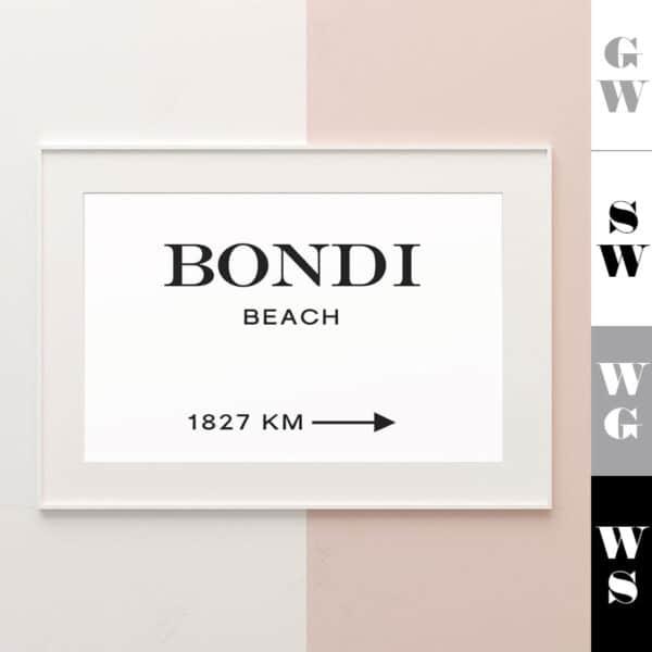 Meintipi Wunschort Poster Typographie Personalisiert Schwarz Weiß