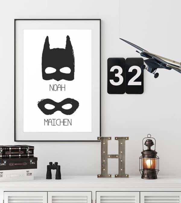 Meintipi Superhelden Hero Poster Kinderzimmer