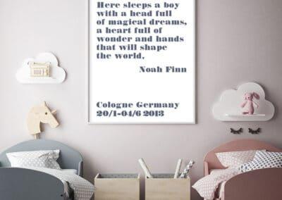 Meintipi Sweet Dreams Poster Junge Kinderzimmer