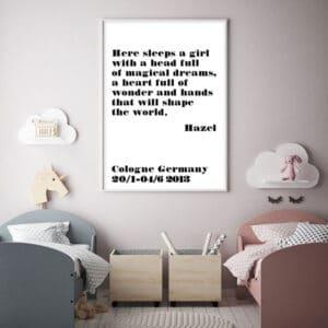 Meintipi Sweet Dreams Poster Mädchen Kinderzimmer