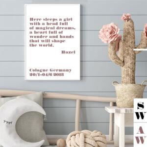 Meintipi Sweet Dreams Poster Mädchen Kinderzimmer Farbauswahl