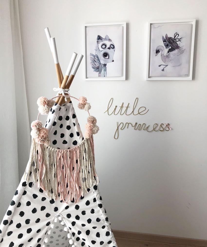 Meintipi Prinzessinen Traumfänger Rosa Dreamcatcher Kinderzimmer