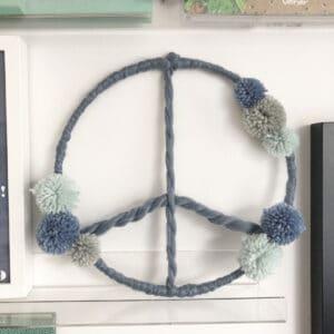 Meintipi Traumfänger Peace Blau Dreamcatcher Kinderzimmer