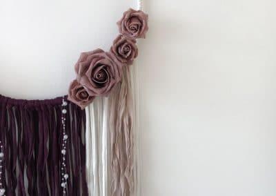 Meintipi Traumfänger Fleur Rosen Dreamcatcher Kinderzimmer