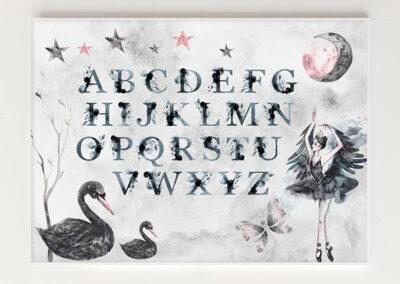 Meintipi Poster ABC Alphabet Kinderzimmer Märchen