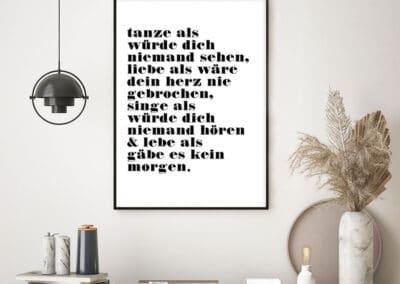 Meintipi Tanze, Singe, Lache, Lebe Poster Wohnzimmer