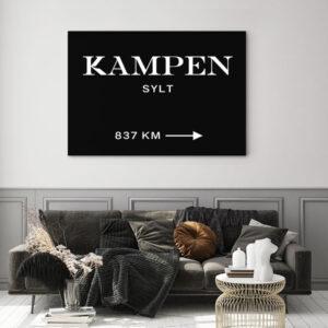 Meintipi Wunschort Poster Typographie Personalisiert Weiß Schwarz