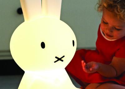 Miffy Original LED-Leuchte in Weiß Meintipi 50 cm