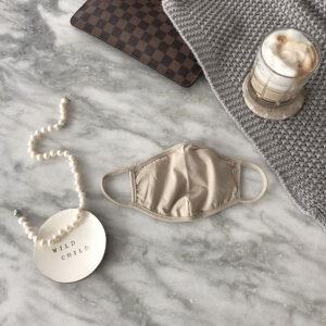 Behelfs Mund-Nasen Maske Sand Baumwolle Sand