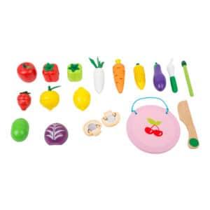 Schneide-Frucht- und Gemüseset mit Klettverbindung