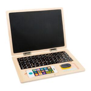 Holz-Laptop mit Magnet-Tafel