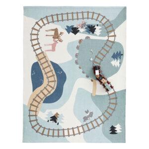 Spielteppich Edvin Wald mit Eisenbahn