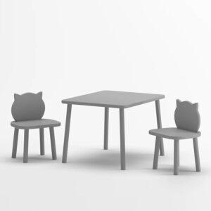 Tisch und Stuhl Set Katzenohren Weiß